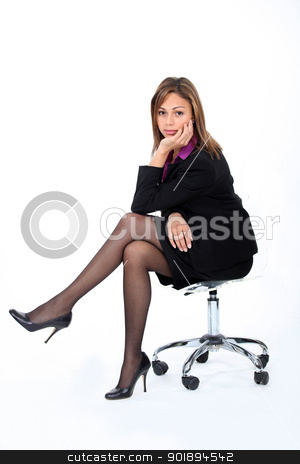 A bored businesswoman. stock photo, A bored businesswoman. by photography33