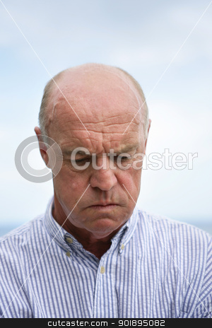 Grumpy old man stock photo, Grumpy old man by photography33