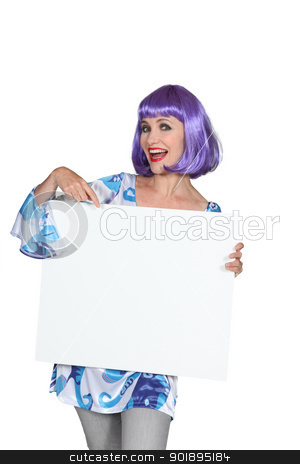 Woman with purple wig stock photo, Woman with purple wig by photography33