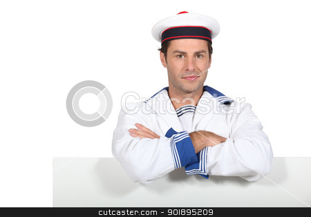 Man in navy costume stock photo, Man in navy costume by photography33