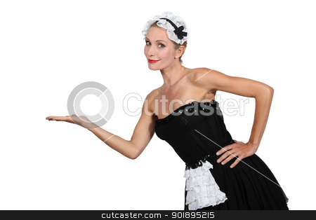 Woman in french maid fancy dress costume stock photo, Woman in french maid fancy dress costume by photography33