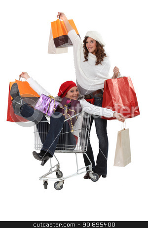 Friends on a retail blowout stock photo, Friends on a retail blowout by photography33