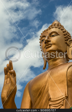 Buddha stock photo, Buddha, temple, religion,Thai art by baanphukeaw