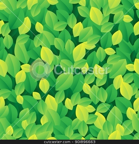 Leafy seamless background 1 stock vector clipart, Leafy seamless background 1 - vector illustration. by Klara Viskova