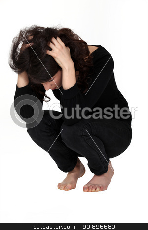 Annoyed woman. stock photo, Annoyed woman. by photography33