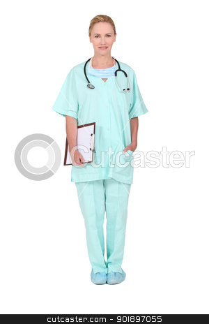 Portrait of nurse stock photo, Portrait of nurse by photography33