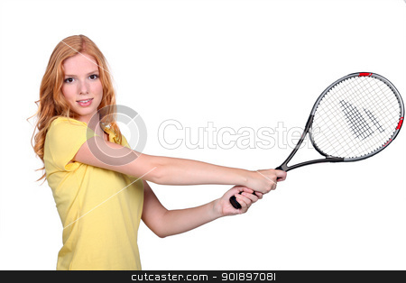 Lady playing tennis stock photo, Lady playing tennis by photography33