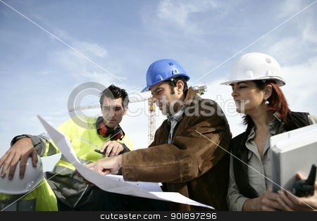 Construction team on site stock photo, Construction team on site by photography33