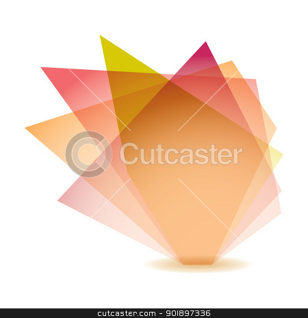 Pastel shard stock vector clipart, Pastel shade shard with glass elements and white background by Michael Travers