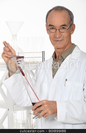 Experienced laboratory technician stock photo, Experienced laboratory technician by photography33