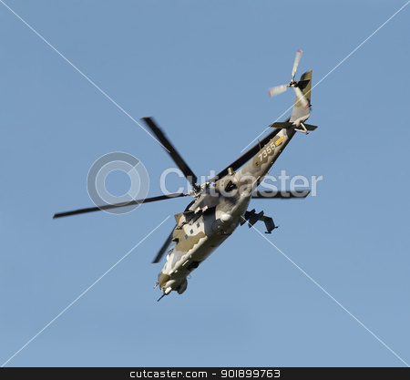gunship stock photo, Shot of a flying gunship by Siloto