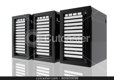 Informatic servers stock photo, Informatic servers by genialbaron