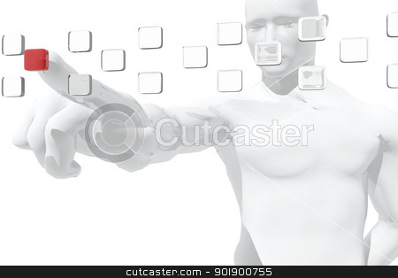 Human figure selecting information stock photo, Human figure selecting information by genialbaron
