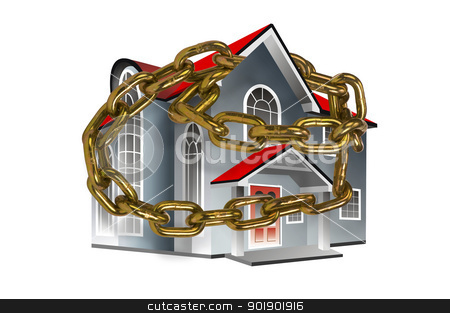 Home in Chains. stock photo,  by WScott