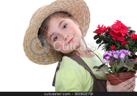 Child gardener stock photo, Child gardener by photography33