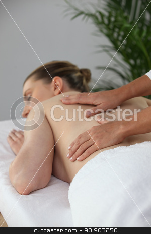 Woman in massage parlor stock photo, Woman in massage parlor by photography33