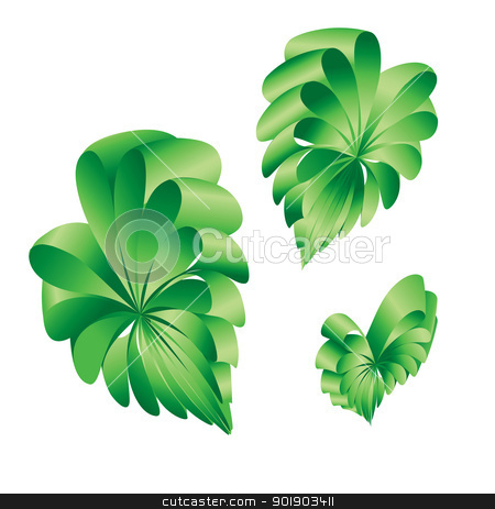 Shape of a hearts. stock photo, Ribbons curled into the shape of a green hearts. by dvarg