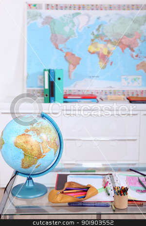 Interior of classroom stock photo, Interior of classroom by photography33