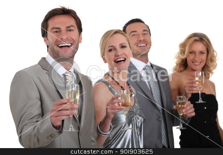 Group of people drinking champagne stock photo, Group of people drinking champagne by photography33