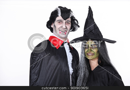 Couple dressed up for Hallowe'en stock photo, Couple dressed up for Hallowe'en by photography33