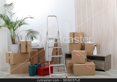 Moving boxes stock photo, Moving boxes by photography33