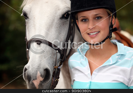 young girl with horse stock photo, young girl with horse by photography33