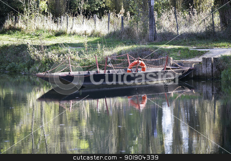 Old river boat stock photo, Old river boat by photography33