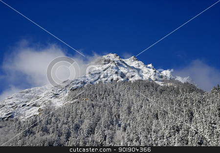 Foggy mountain stock photo, Foggy mountain by photography33
