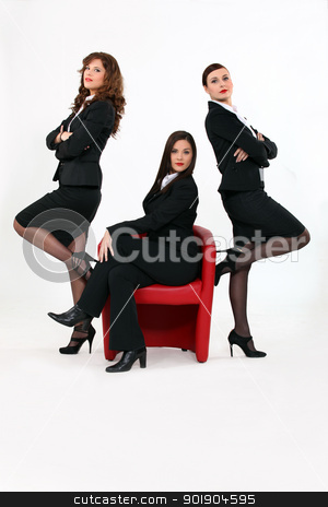 Three successful business women stock photo, Three successful business women by photography33
