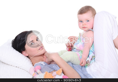 Woman with baby stock photo, Woman with baby by photography33
