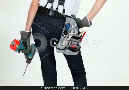 Woman with tools stock photo, Woman with tools by photography33