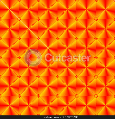 Red abstract pattern stock vector clipart, Decoration of the many repetitive decorative elements. by Sergey Skryl