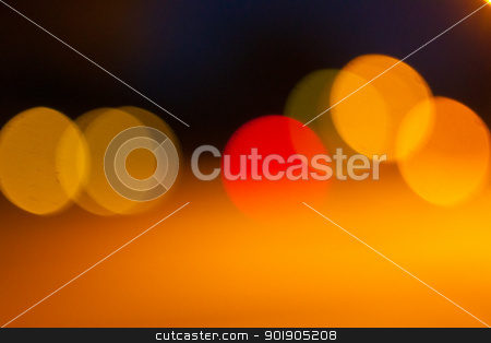 Bokeh Art stock photo, Abstract bokeh art, blurred city lights at night  by Jeff Fawcette