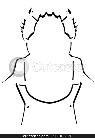 Contour of the Scarab beetle stock vector clipart, Contour image of the beetle. The illustration on a white background. by Sergey Skryl