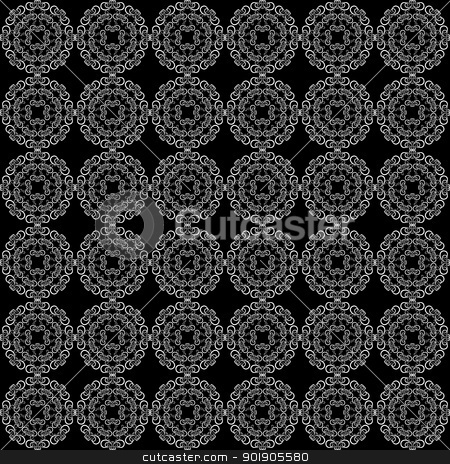 Abstract pattern stock vector clipart, Abstract black and white pattern. Black-and-white illustration. by Sergey Skryl