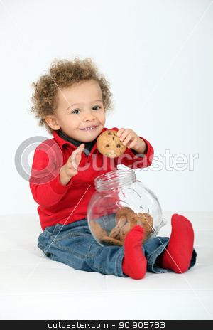 little boy eating biscuits stock photo, little boy eating biscuits by photography33