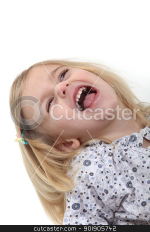 Little girl laughing stock photo, Little girl laughing by photography33