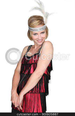 Woman in a flappers outfit stock photo, Woman in a flappers outfit by photography33