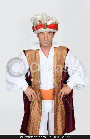 Man dressed in genie costume stock photo, Man dressed in genie costume by photography33