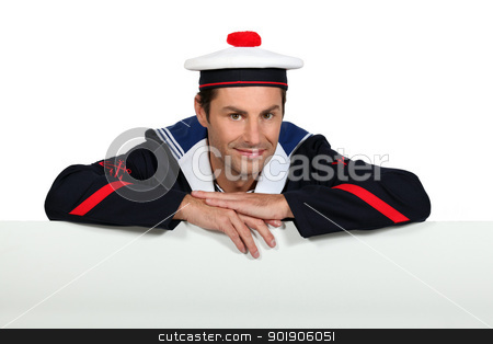 Man wearing sailor uniform stock photo, Man wearing sailor uniform by photography33