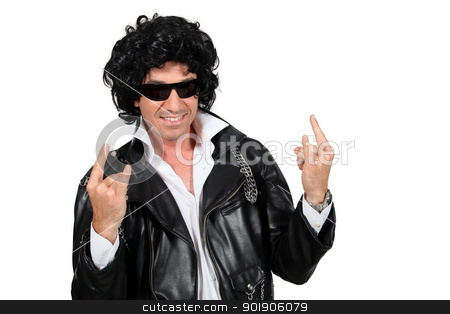 Man dressed as a rockstar stock photo, Man dressed as a rockstar by photography33