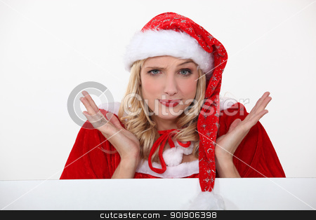 Mrs. Claus doesn't know what to do... stock photo, Mrs. Claus doesn't know what to do... by photography33