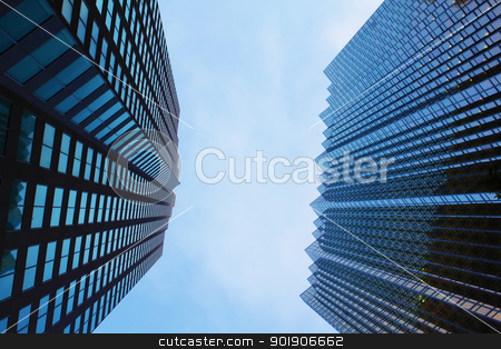 Skyscrapers stock photo, High-rise office buildings in financial district - Toronto, Canada by Niloo