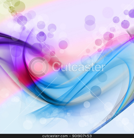 The gentle curve streaks stock photo, Soft blue lines, soft blue bubble, abstract Blue purple spots by hitus