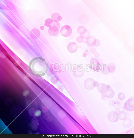 Soft blue lines stock photo, Soft blue and purple lines, bubble upward run by hitus