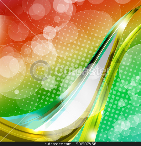 Spots with fantasy bubble stock photo, Spots background the upward emission lines, full of fantasy bubble by hitus