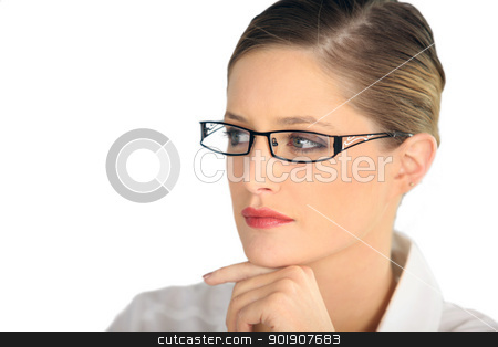 Woman wearing glasses stock photo, Woman wearing glasses by photography33