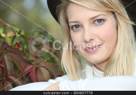 Portrait of a blond-haired woman stock photo, Portrait of a blond-haired woman by photography33