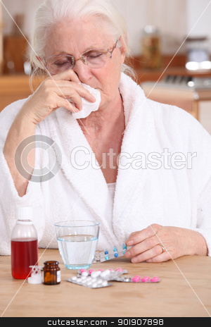 A sick old lady. stock photo, A sick old lady. by photography33