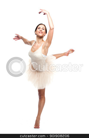 ballerina stock photo, Photo young and beautiful ballerina by Artamonov Yury